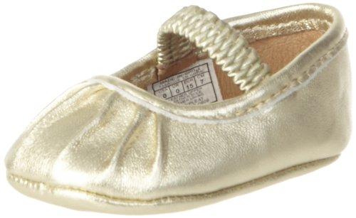 (Ralph Lauren Layette Pleat Crib Shoe (Infant/Toddler),Platina Lambskin,3 M US Infant)