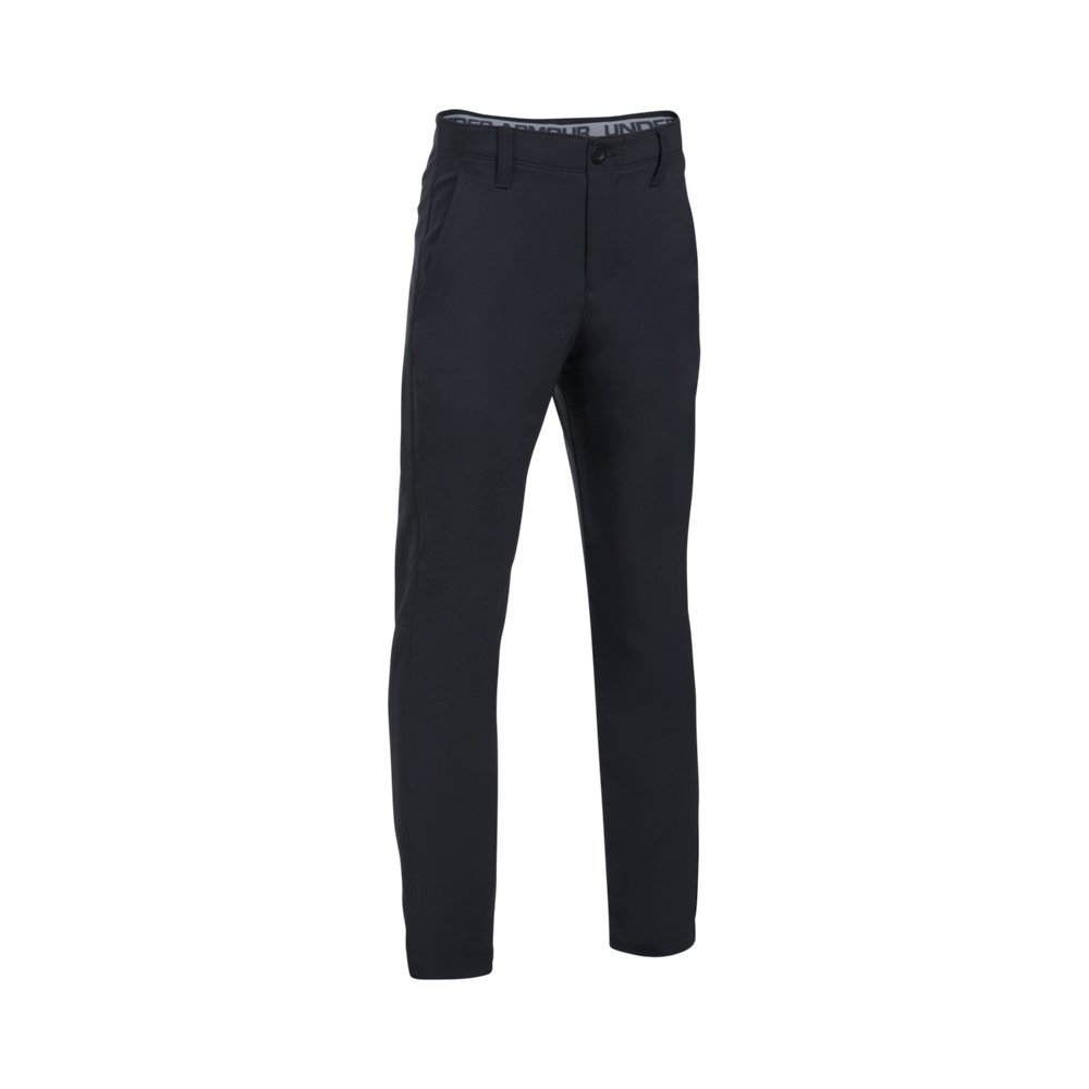 Under Armour Boys' Match Play Pants, Black (001)/Steel, 12