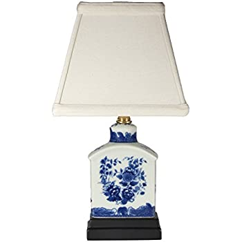 Petite Blue White Porcelain Accent Table Lamp