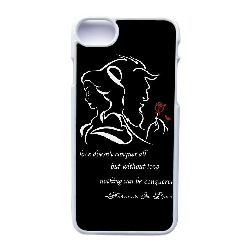 Coque,Apple Coque iphone 7 (4.7 pouce) Case Coque, Generic Bella Y La Bestia Musical Cover Case Cover for Coque iphone 7 (4.7 pouce) blanc Hard Plastic Phone Case Cover