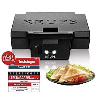 Krups Sandwichmaker FDK451 | für gegrillte Sandwichtoasts in Dreiecksform | Antihaftbeschichtete Platten (Leichte Reinigung, Kein Anbrennen) | Aufheiz- und Temperaturkontrollleuchte | 850W 7