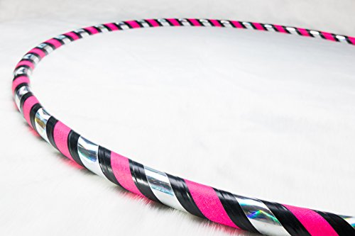 Weighted Fitness Hula Hoop. Great for Exercise, Dancing, Staying in Shape and Having Fun! (Rainbow Pink, Dance Hoop 38