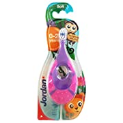 Jordan Baby Teether Training Toothbrush Toddler Infant Massager Step 1 Baby Toothbrush, 0-2 Years, Soft Bristles, BPA Free, 1 count By FBA (purple)