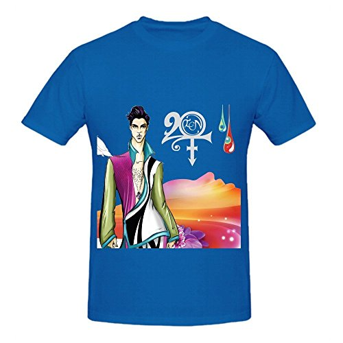 Prince 20ten Mens Crew Neck Printed Tee Shirts Blue