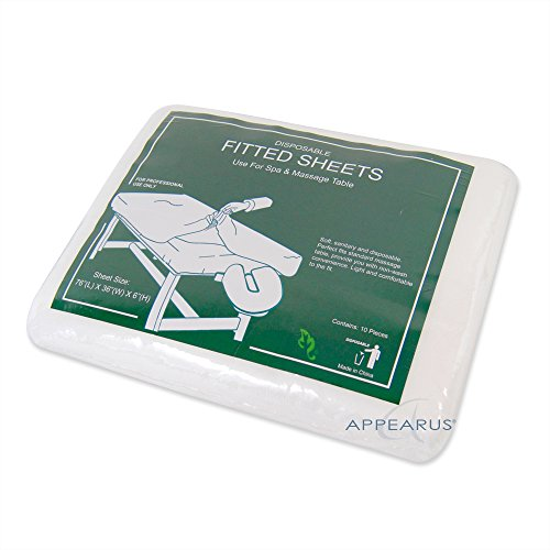 Appearus Disposable Fitted Massage Table Cover Sheets 76x36x6 (10 count)