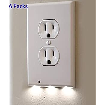 6 pack outlet wall plate with led night lights no batteries or 6 pack outlet wall plate with led night lights no batteries or wires installs aloadofball Images