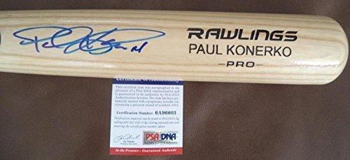 Autographed Paul Konerko Chicago White Sox Signed Engraved Rawlings Pro Bat - PSA/DNA Certified Paul Konerko Hand Signed