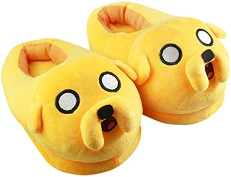 Amazon.com: Momoso_Store adventure time jake slippers adult cotton home plush  slippers winter warm shoes indoor 3d slippers: Home Improvement