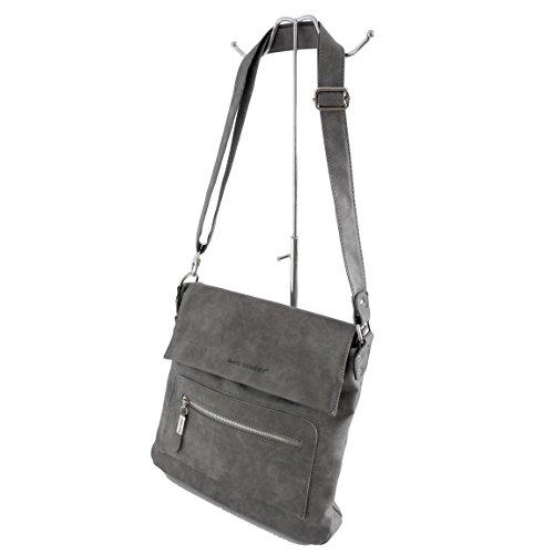 0 colores para von Bag Varios ZMOKA® präsentiert gris Marrón cruzados marrón mujer Street multicolor Bolso YY4O1