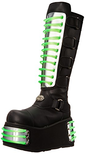 Polyurethane Mens Boots (Pleaser Men's Techno-854UV Boot,Black Polyurethane,10 M US)