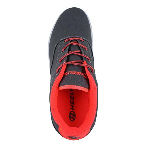 Heelys Herren Launch Fashion Sneaker Holzkohle / Orange