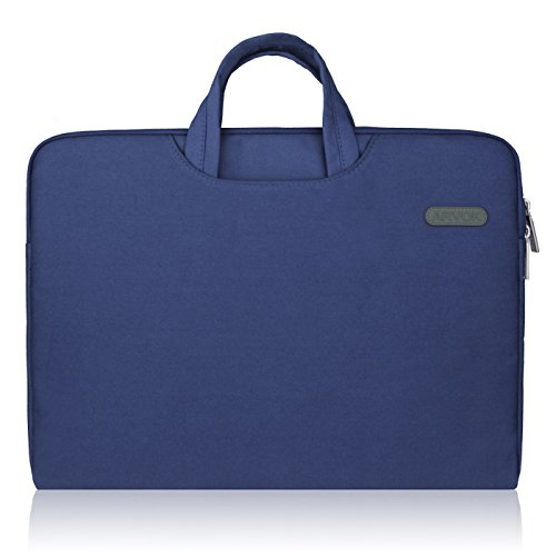 h Water-resistant Canvas Fabric Laptop Sleeve with Handle &Zipper Pocket/Notebook Computer Case/Ultrabook Briefcase Carrying Bag/Pouch Cover for Acer/Asus/Dell/Lenovo/HP,Denim Blue ()
