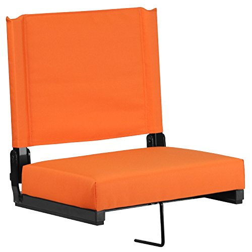 Old Black Finish (Flash Furniture Grandstand Comfort Seats by Flash with Ultra-Padded Seat in Orange)