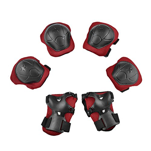 uxcell Children Wrist Palm Elbow Knee Support Brace Protecti