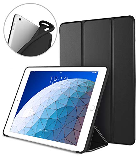 DTTO iPad Air 3rd Generation 10.5'' 2019 Case, [Gentle Series] Smart Cover Trifold Stand Soft Back Cover for iPad Air 3 10.5 Inch 2019/iPad Pro 10.5 2017 [Auto Sleep/Wake], Black
