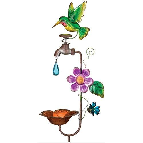 (Regal Art & Gift 12151 Faucet Bird Feeder Hummingbird Garden Stake, Pink/Green)