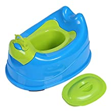 Enerhu Toddler Potty Training Chair Seat with Lid Removable Easy Clean Blue