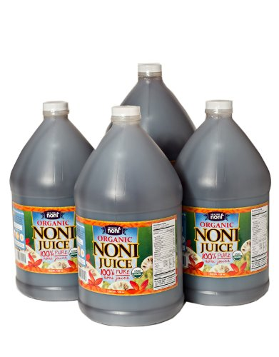 Organic Hawaiian Noni Juice - Case of 4 Gallon Jugs (128oz Each) (Noni Juice Concentrate compare prices)