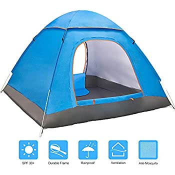 Amazon Com Instant Setup One Piece Camping Tent Family