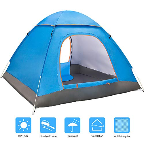 - Amagoing 2-3 Person Tents for Camping Automatic Pop Up Waterproof Tent with Carry Bag for Backpacking, Picnic,Hiking,Fishing,Outdoor Use