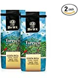 Cafe Britt Tarrazu Montecielo Whole Bean Coffee, 12-Ounce Bags (Pack of 2)