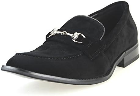 カジュアルシューズ メンズ ビットローファー スリッポン ドレスシューズ Uチップ モカシン 紳士靴 春 靴 【 APT366SZ-1 】