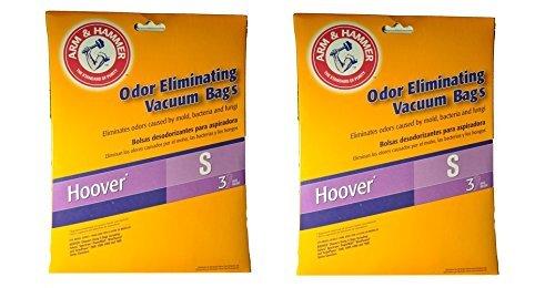 Hoover Type S Arm & Hammer Odor Eliminating Vacuum Bags #4010100S - (2 Packs of 3 = 6 Bags) by Arm & Hammer