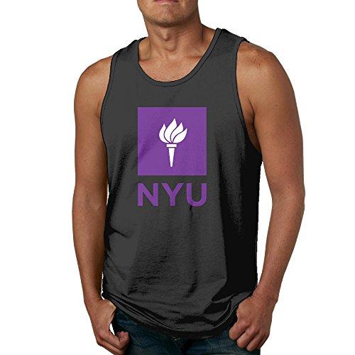 Men's Nyu Violets Logo Tank - Snapback Short Hair