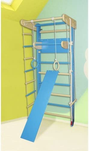 Casa – esquina interior de madera de gimnasia Parque Sueco escalera gimnasia sportcomplex, Height: 82,7in, Azul: Amazon.es: Deportes y aire libre