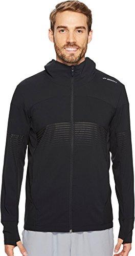 Brooks Men's Canopy Jacket Black/Black Stripe X-Large