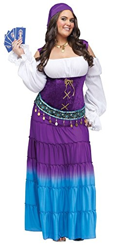 Fun World Women's Gypsy Moon Plsz Diamond, Multi, Extra Large -