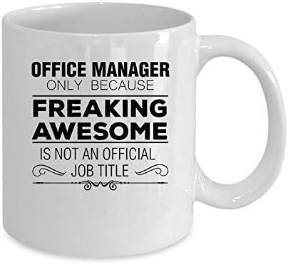 Zor345damilla Office Manager Kaffeebecher, Weiß Lustiges Büro-Manager-Geschenk