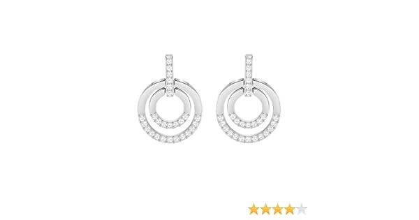4d93052ab Amazon.com: Swarovski Crystal Medium White Rhodium-Plated Circle Earrings:  Jewelry