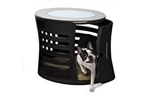 DenHaus ZenHaus Indoor Dog House and End Table, Black, Small