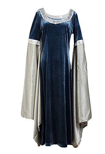 Lotr Arwen Costume (The Lord of the Rings Cosplay Costume Arwen Traveling Dress Costume)