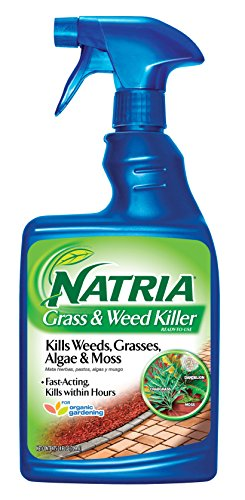 Natria 706170A Ready-to-Use Grass & Weed Killer, 24-Ounce, Blue Bottle
