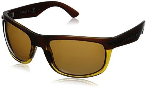 Kaenon Men's Burny Polarized Rectangular Sunglasses, Whiskey, 62 - Sunglasses Kaenon Burny