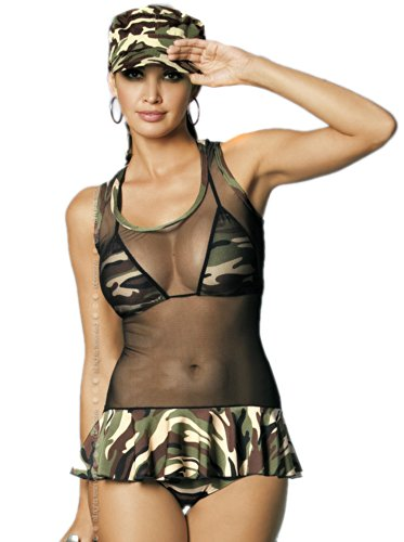 Obsessive 4 pcs sexy Soldier girl costume .