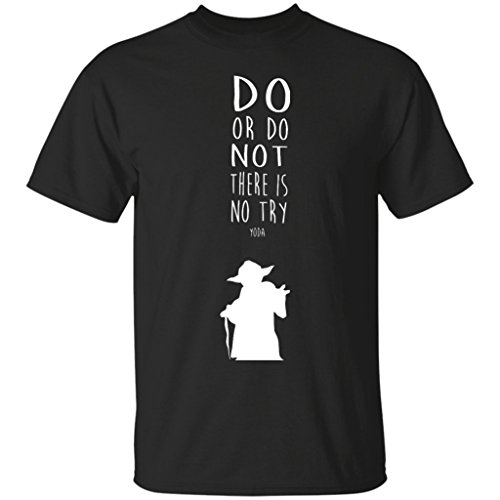 (Yoda Quote, Do Or Do Not, There Is No Try Tee, Star Wars T-Shirt-Emily's Design Unisex Adult's)