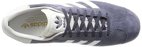 adidas Gazelle, Baskets Basses Mixte Adulte Gris (Nemesis/Vintage White/Gold Met)