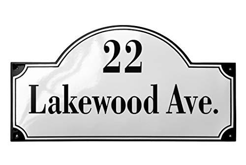 Ramsign Personalized Address Plaque. Porcelain Enamel. 13,5