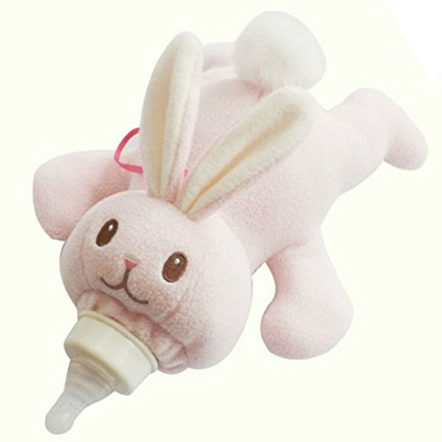 Zerowin Lovely Animal Infant Baby Bottle Cover Feeder Bottle Keep Warm Holder, Rabbit (Duck Baby Bottle)