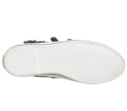 Perkish Venus Shoe Trainer Leather Buckle Black Ash FXqdcdZyf