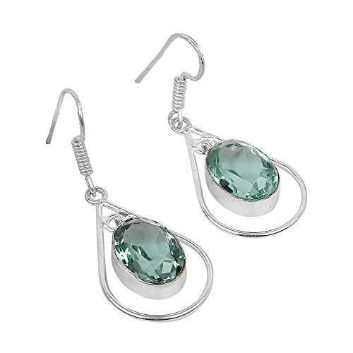 New Chic Fashion Women's Jewelry Green Chalcedony Ear Earrings Gift