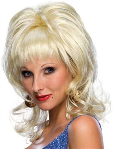 Rubie's Blond Country Singer Wig, Yellow, One -