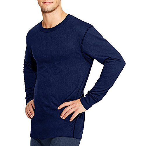 Duofold by Champion Thermals Men's Long-Sleeve Base-Layer Shirt_Navy_L