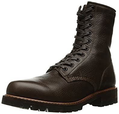 FRYE Men's Arkansas Logger Tall Combat Boot, Dark Brown, 7 D US