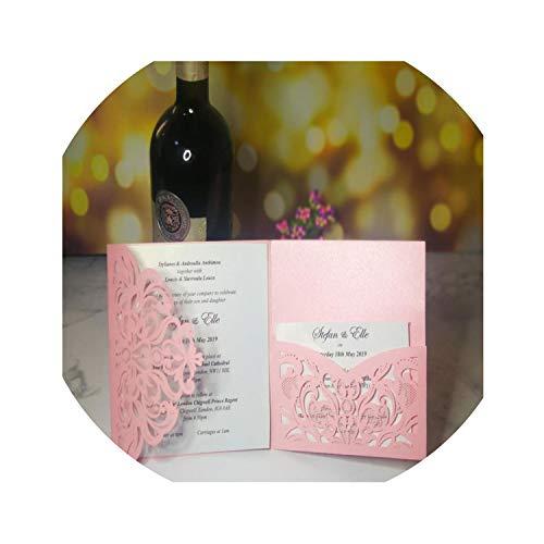 10 Pieces Tri Fold Cutout Openwork Flower Wedding Invitations Card Set Postcard High end Business Dealings Can Print,3