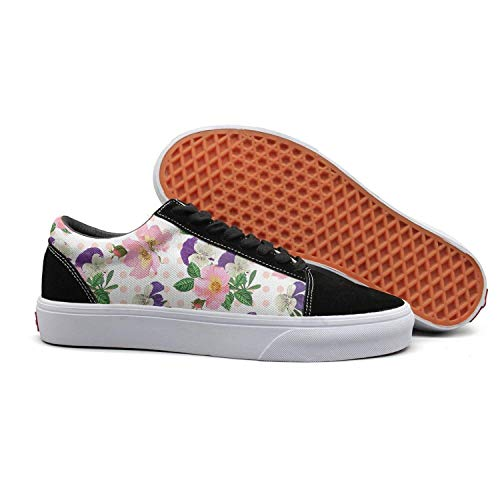 epy eker Suede Women's Low top Bouquet with Pink Pansies Plants Comfortable Skateboard Shoe (Mini Bouquet Seed)