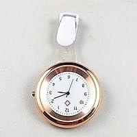 RunGirl Reloj de Cuarzo para Enfermera, Elegante Broche médico, Reloj de Clip, Oro Rosa
